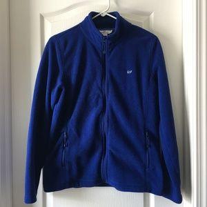 Vineyard Vines Navy Blue Fleece Zip Up